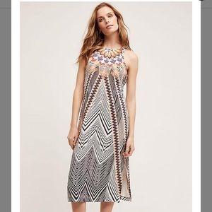 Anthropologie silk patterned dress